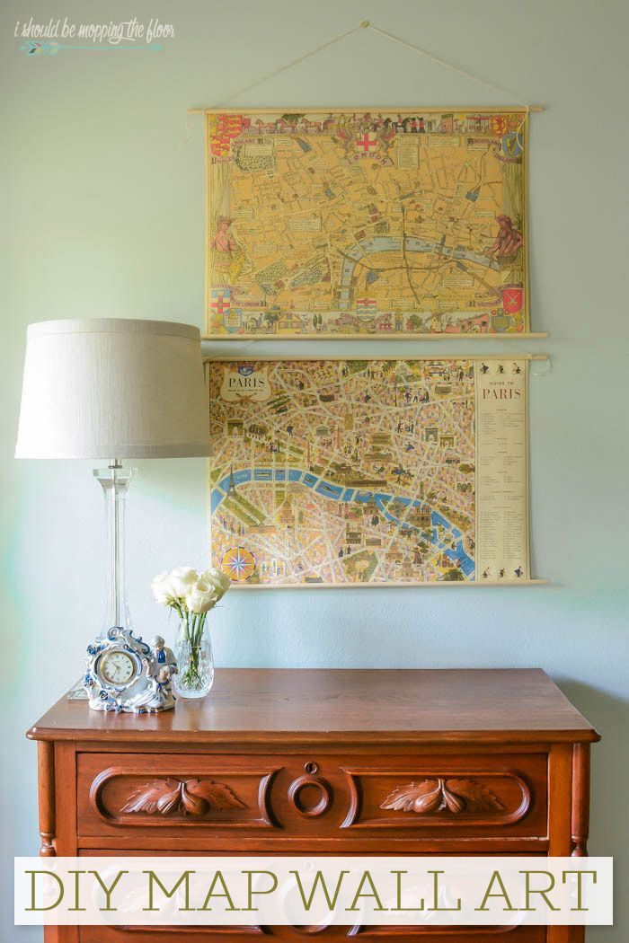 DIY Map Wall Art   Pinterest   Easy budget, Budgeting and Display
