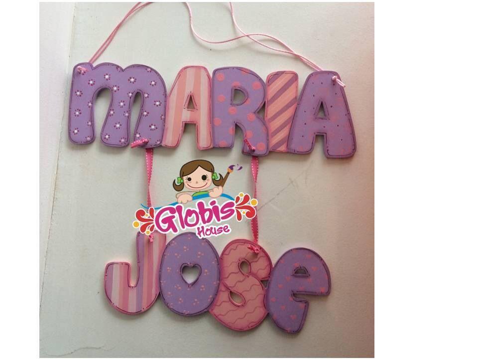 Pintado A Mano Nuevo Bebé Cumpleaños Bautizo Niños nombre Carta Placa actual
