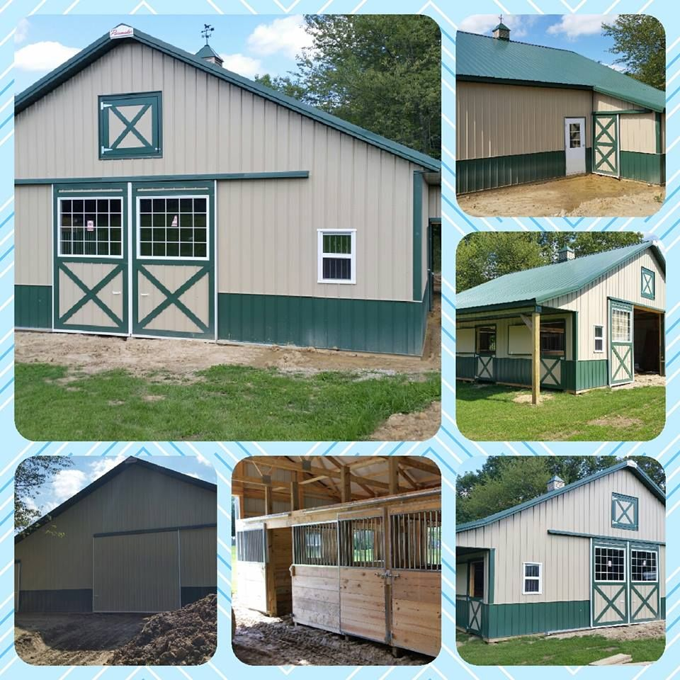Personal use horse stall barn nearly complete in porter