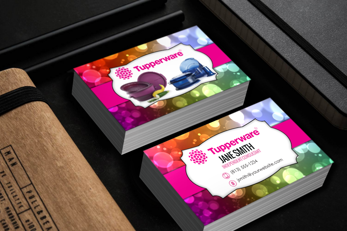 Tupperware Business Cards Free Shipping Tupperware Consultant Tupperware Marketing Business Card