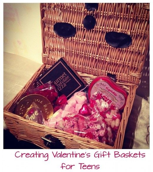 how to create a cute valentines gift basket for teen girls