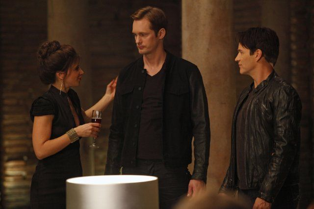 Still of Alexander Skarsgård, Valentina Cervi and Stephen Moyer in True Blood