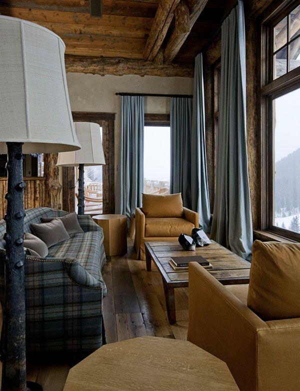 ski lodge inredning