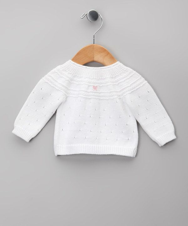 Take a look at this Blanco & Gris Pointelle Cardigan - Infant on zulily today!