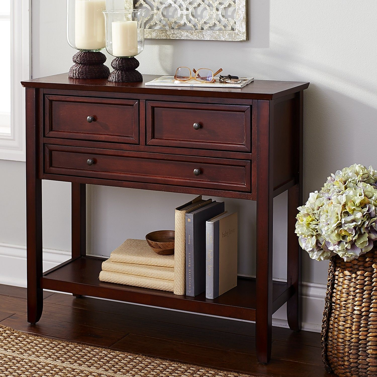 Ashington Small Console Table   Mahogany Brown | Pier 1 Imports