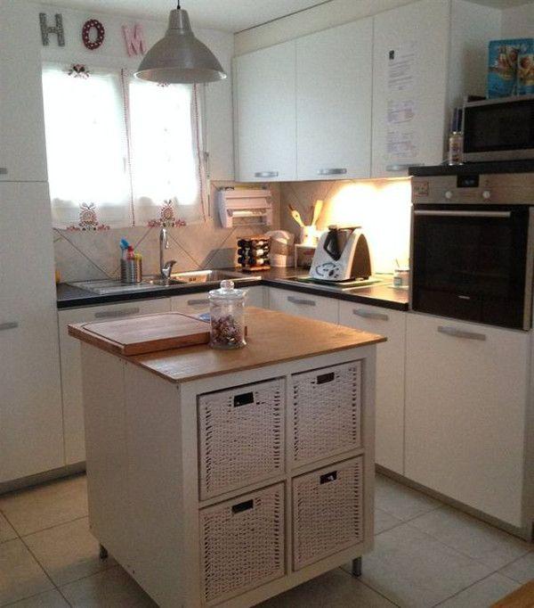 Wie du aus dem Ikea Kallax Regal eine Kücheninsel machst Ikea - kleine regale für küche