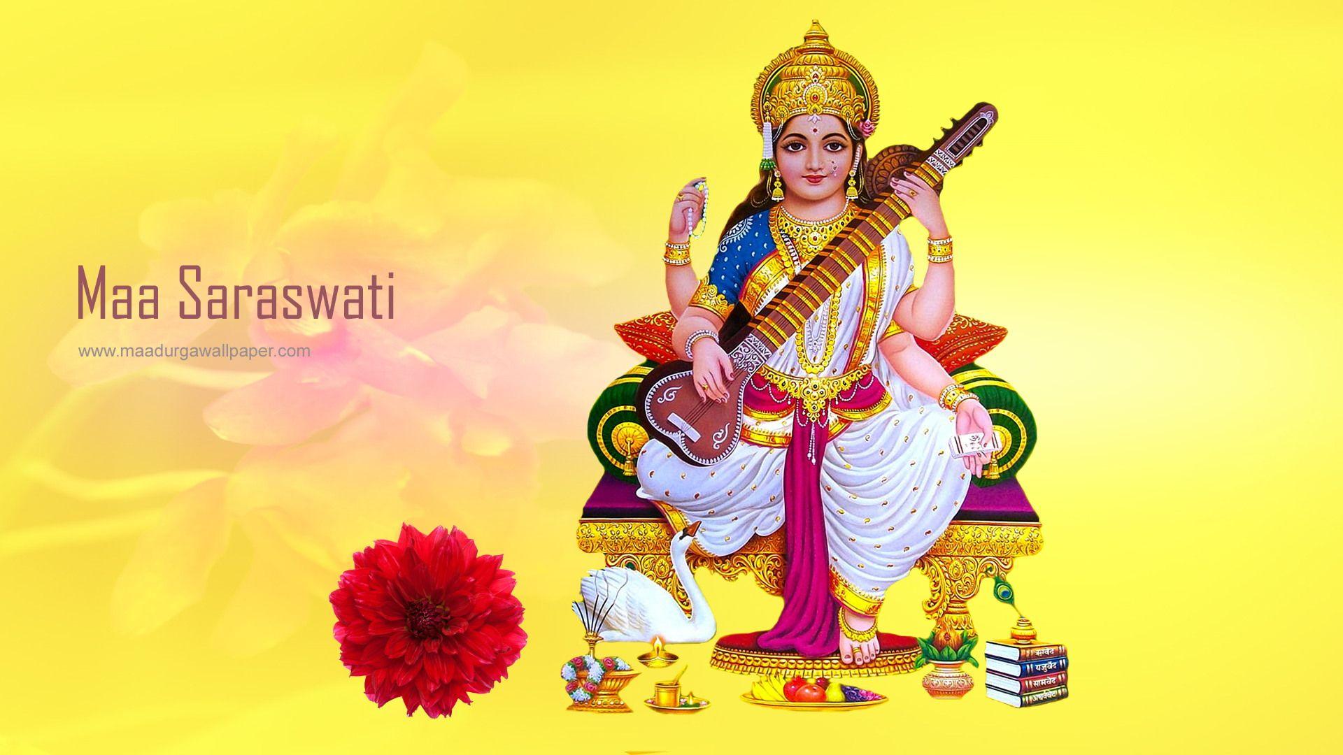 Maa Saraswati Hd Wallpaper Free Download Wallpaper Free Download Basant Panchami Indian Festivals