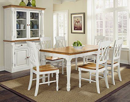Home Styles 5020-309 Monarch Rectangular Dining Table and Six Double ...