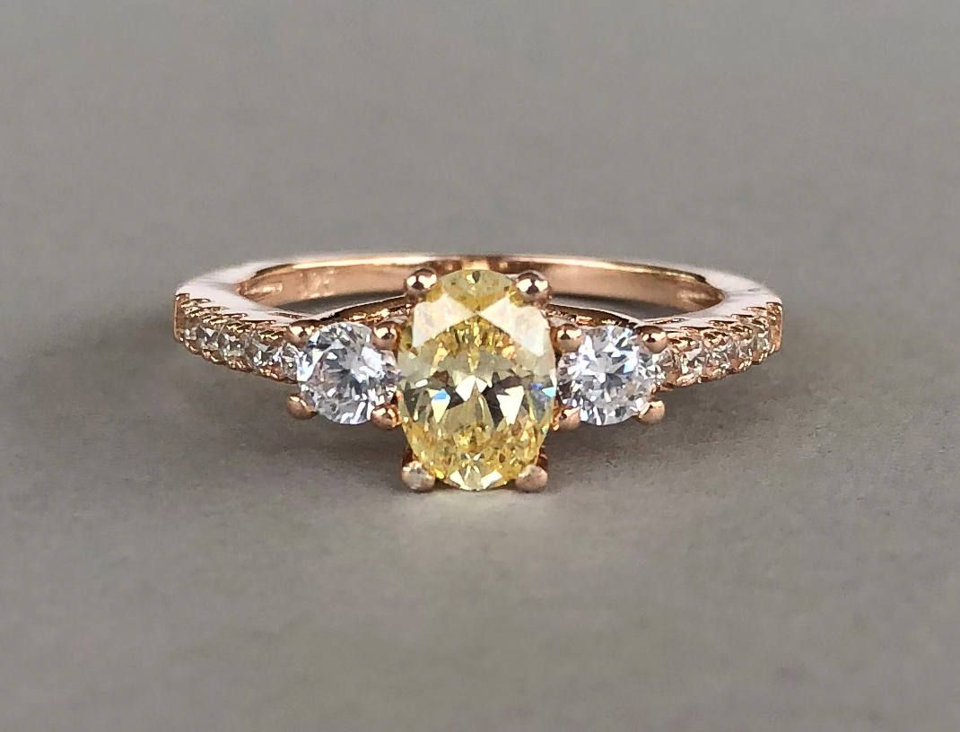 optimized engagement yellow natural canary rings princess tcw white diamond band gold with cut ring
