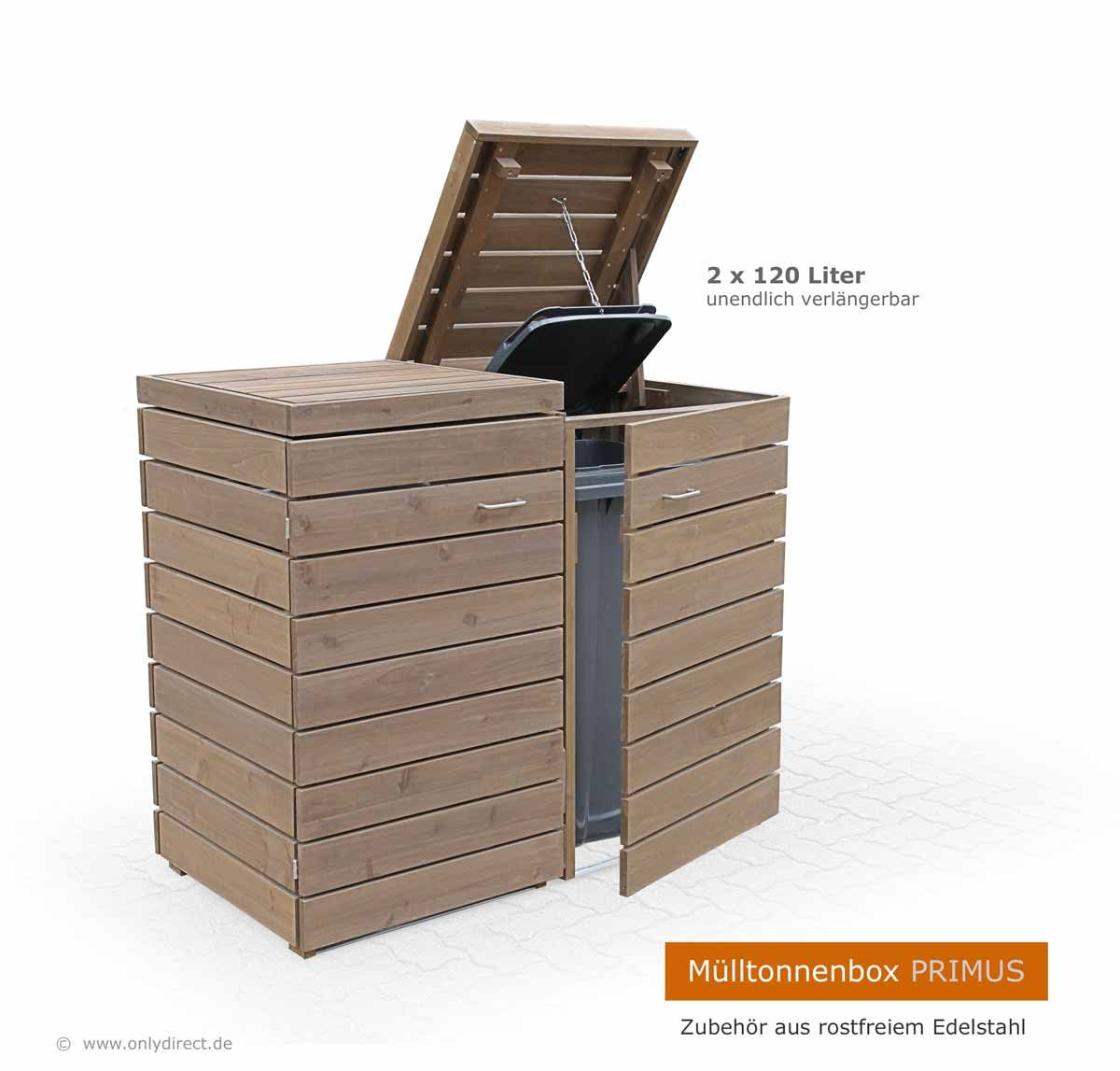 extra stabil und besonders schön - mülltonnenbox primus im modernem