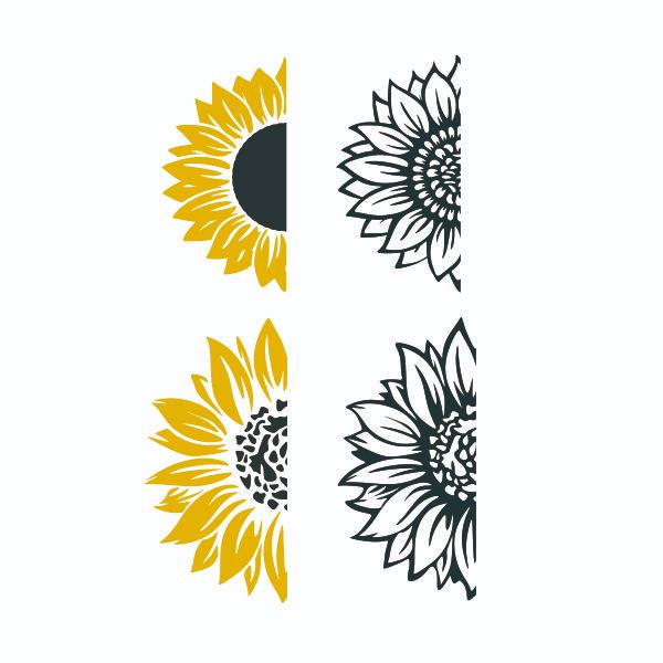 Sunflower SVG Cuttable Design Cricut projects vinyl