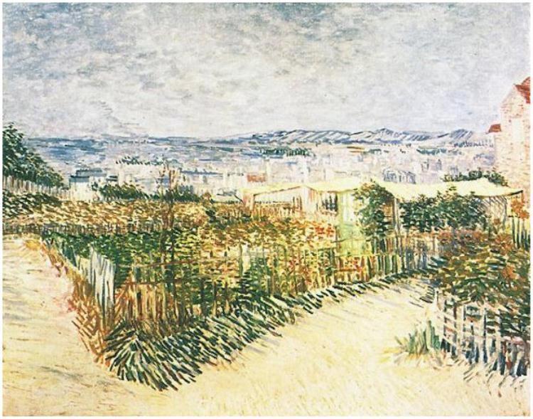 -Vegetable Gardens at Montmartre-  Oil on Canvas_Paris: Summer, 1887_Van Gogh Museum Amsterdam, The Netherlands, Europe