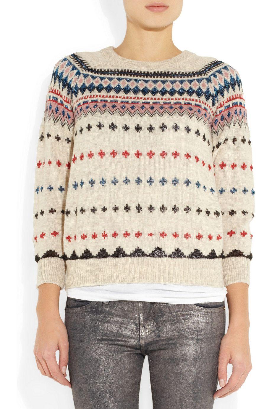 Isabel Marant | Moonsfield intarsia wool-blend sweater | NET-A ...
