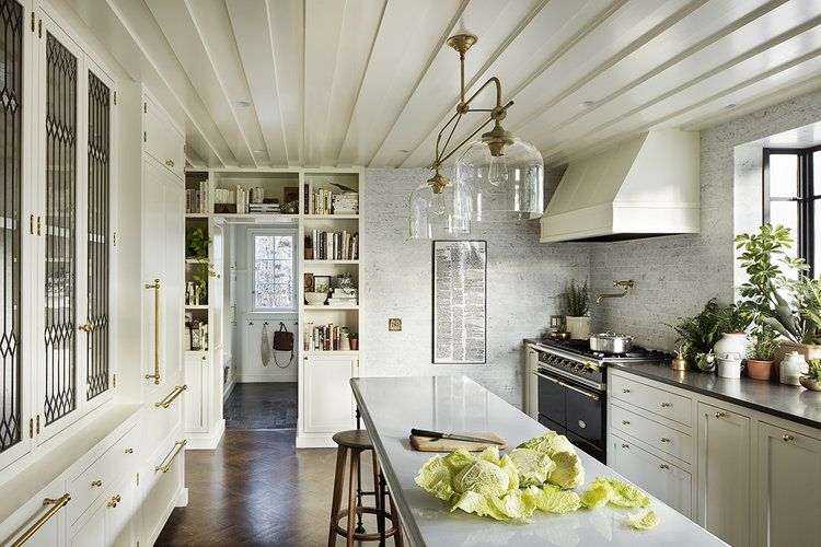 Amazing Kitchen Island And Old Fashioned Pantry