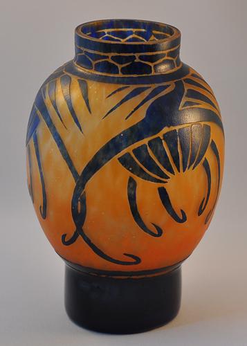 schneider le verre francais vase art glass. Black Bedroom Furniture Sets. Home Design Ideas