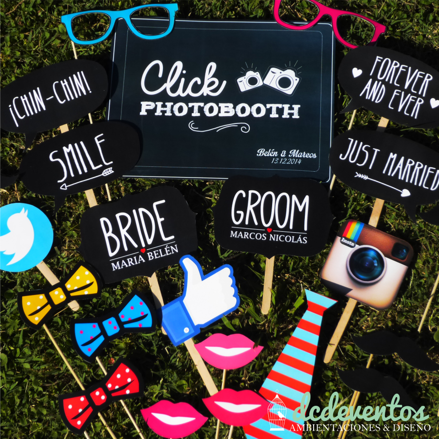 Kit props para photobooth para casamientos - Photocall cumpleanos 18 anos ...