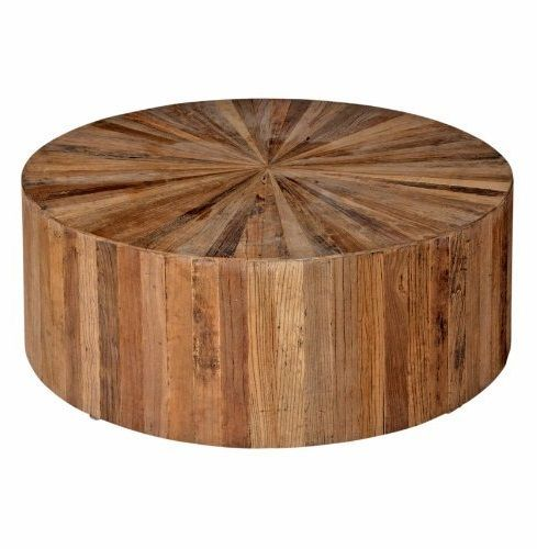 Delicieux Cheap Circular Coffee Table Cyrano Reclaimed Wood Solid Round Drum Modern  Eco Coffee Table Cheap Round Coffee Table
