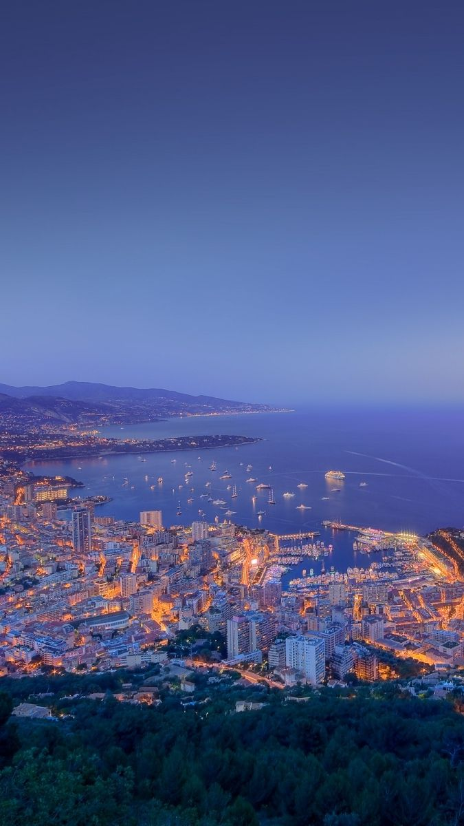 Monaco City Sunset View Iphone Wallpaper View Wallpaper Sunset City Sunset Wallpaper