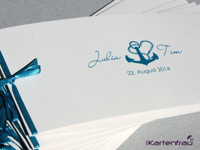 Schön Hochzeitseinladung Hamburg, Maritime Einladungskarte Für Hochzeit,  Individuell Designt By Die Kartenfrau