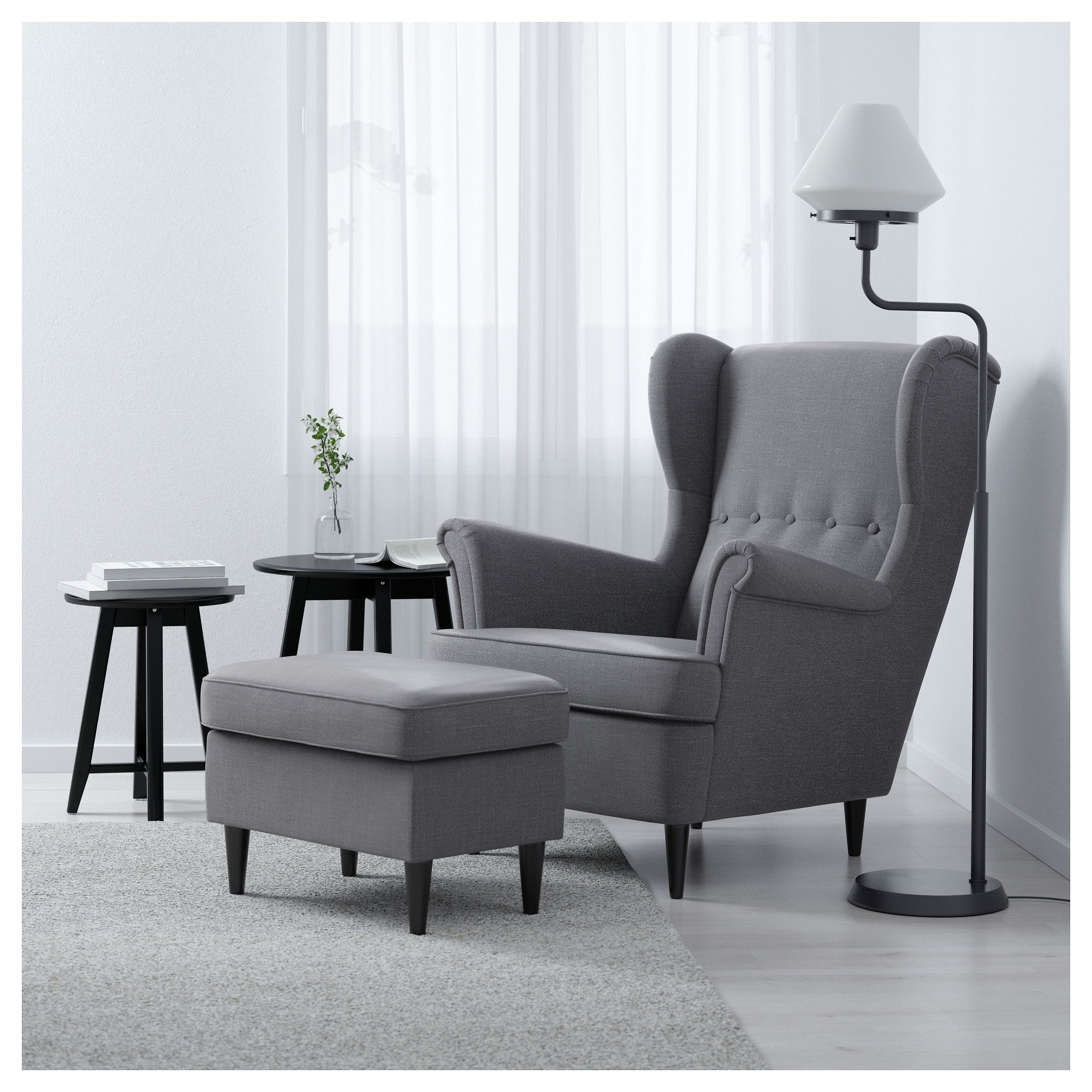 Toptip Sofa Grau Strandmon Wing Chair Nordvalla Dark Gray In 2018 Decorative
