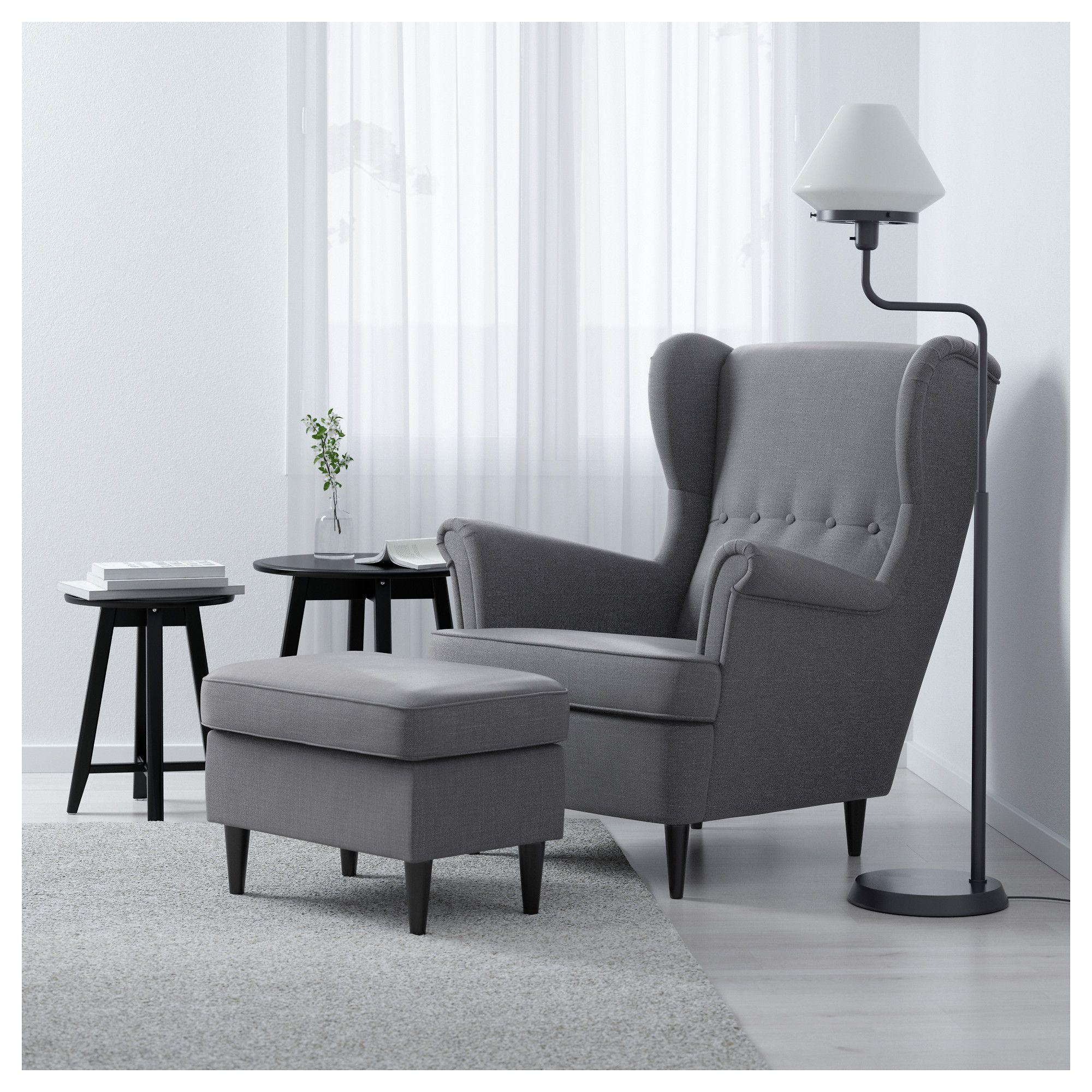 STRANDMON Footstool Nordvalla dark gray Ikea strandmon