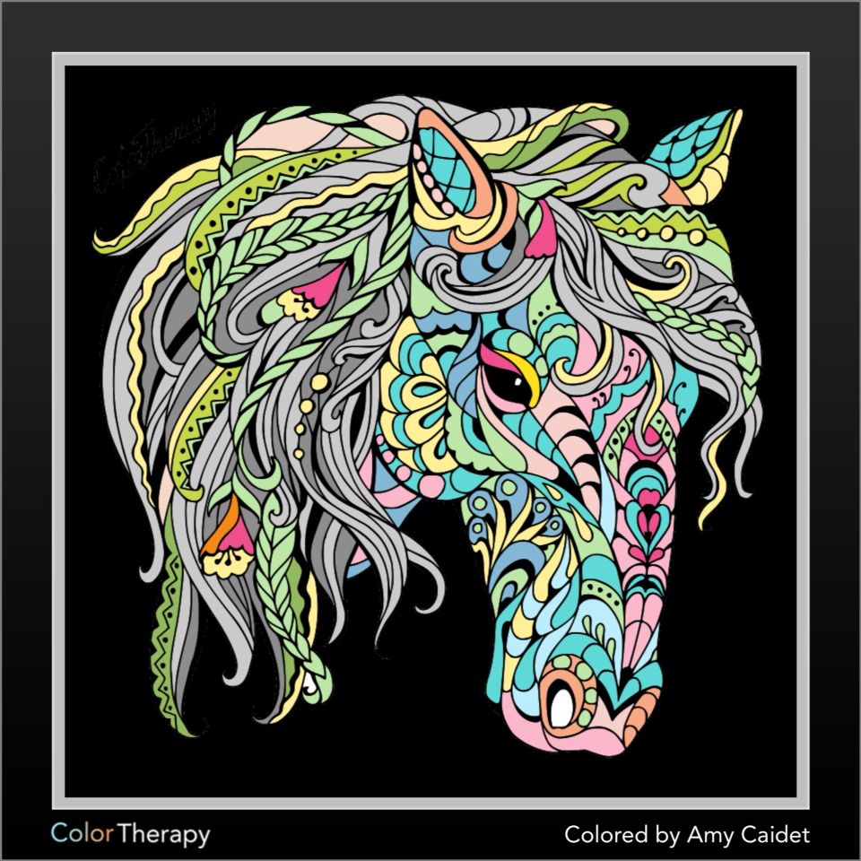 Horse Coloring Artwork @ColorTheraphyApp | Coloring Artworks ...