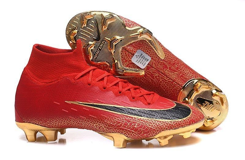 dae05570897 Classic Nike Mercurial Superfly VI Elite CR7 FG Soccer Cleats - Red Gold  Black