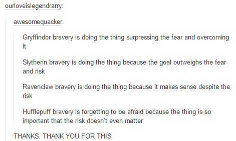 How Different Houses Show Bravery Thank You Whoever Made This