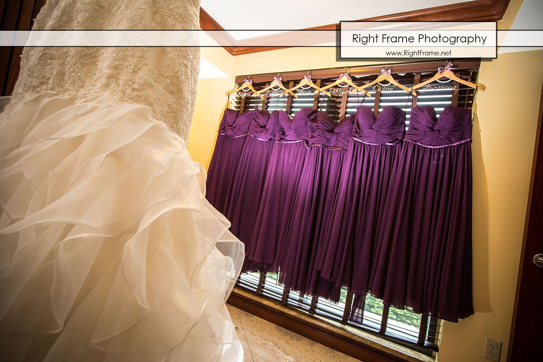 Wedding dress getting ready hawaii wedding at hilton hawaiian