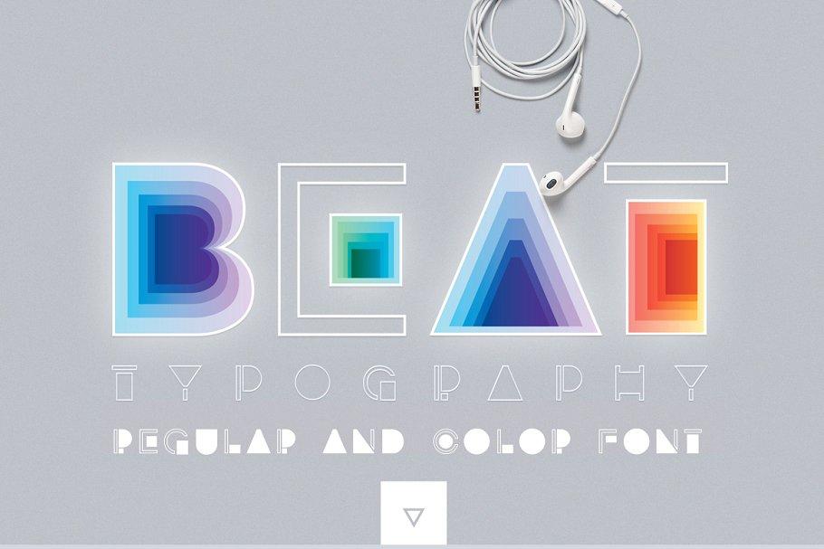 BEAT typography SVG Color Font Symbol Fonts Creative