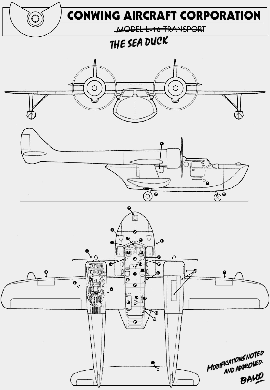 Sea Duck Blueprint