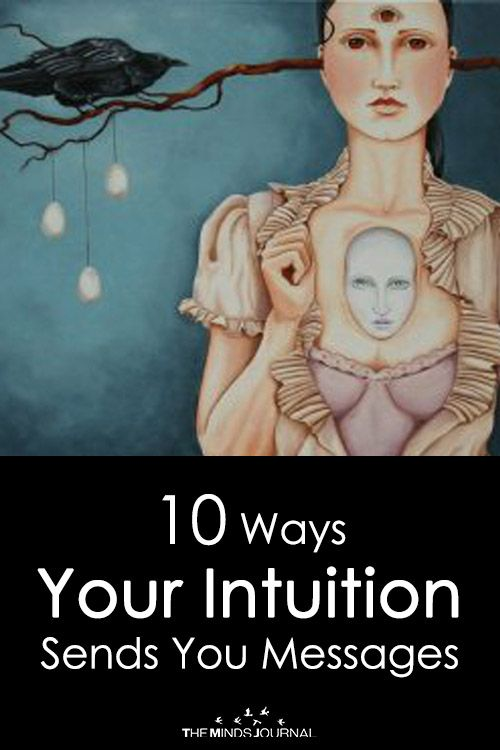 10 Ways Your Intuition Sends You Messages is part of Dark Gel nails Stiletto - 10 Ways Your Intuition Sends You Messages