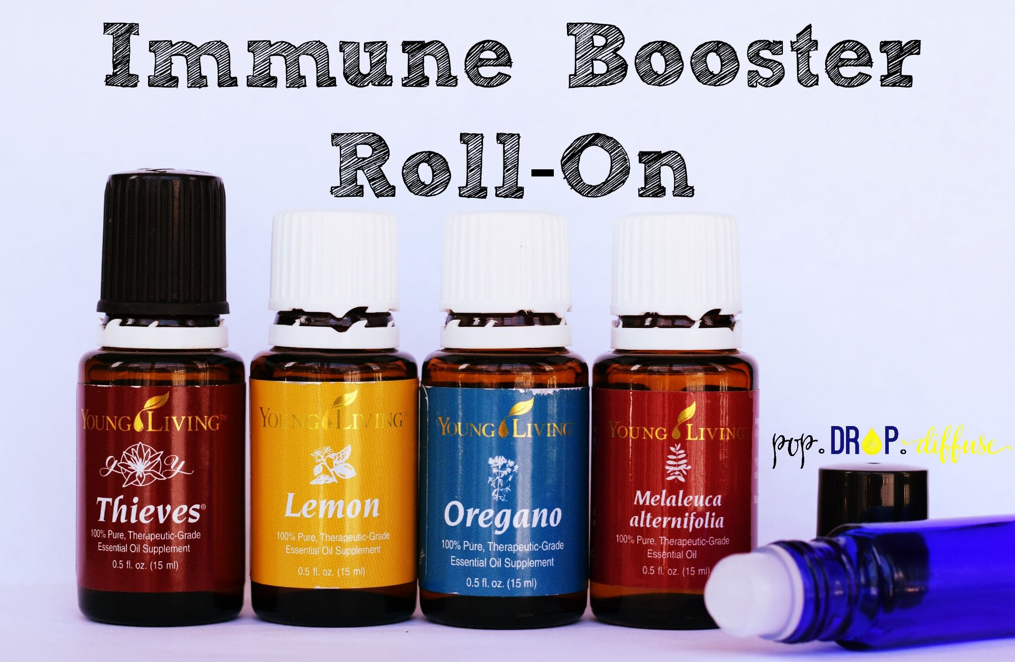 Apply this essential oil immune booster recipe to the bottoms of feet and up and down spine prior to bed to help prevent and treat colds and flu viruses naturally. | www.popdropdiffuse.com