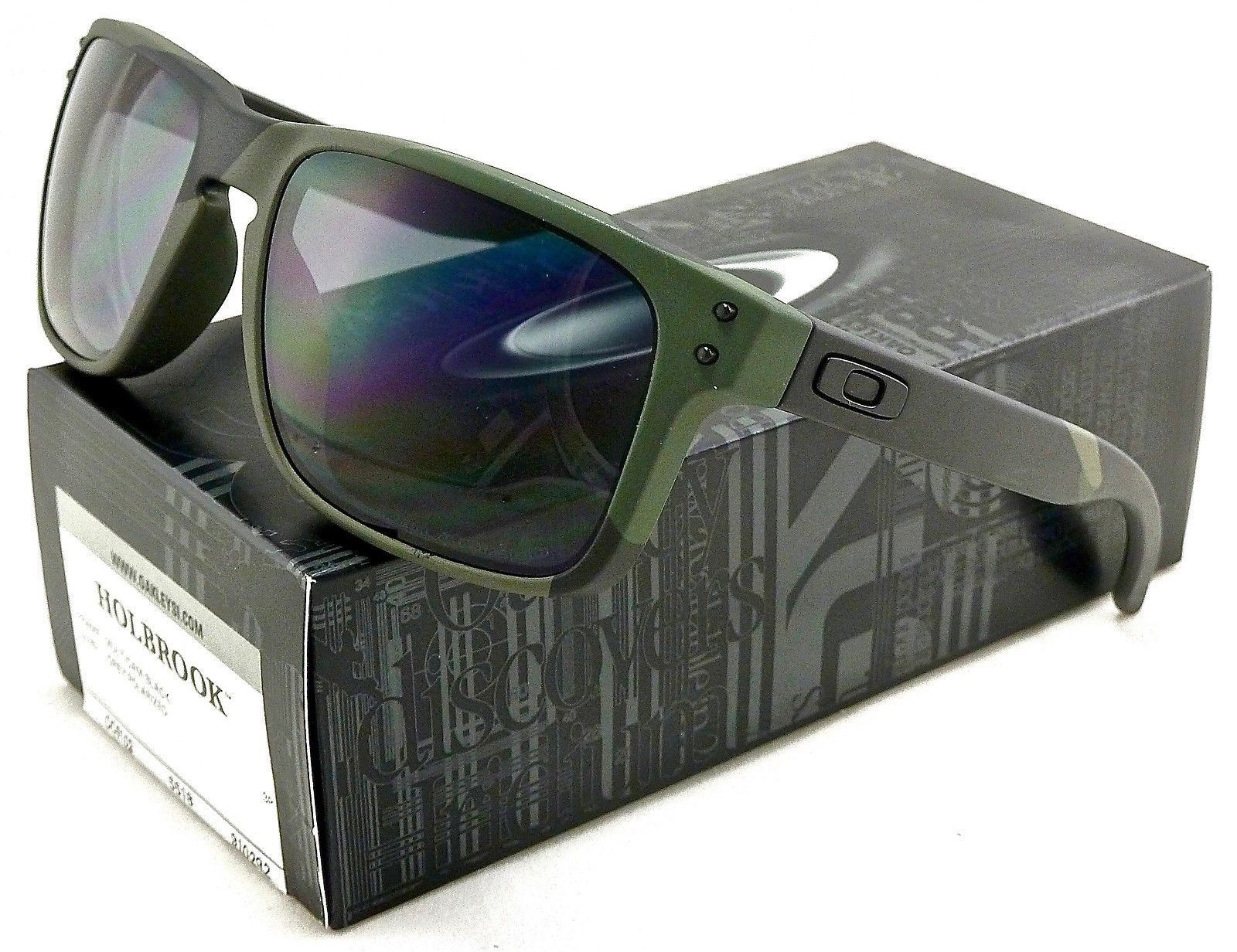 1289c5c18f NEW OAKLEY HOLBROOK SUNGLASSES OO9102-92 MULTICAM BLACK   WARM GREY  POLARIZED