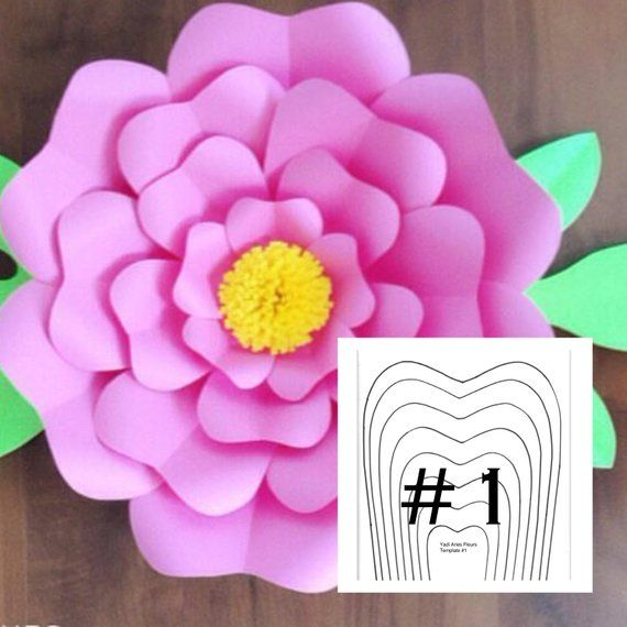 Pdf Yaf Flower Template 1 Products Paper Flowers Flower