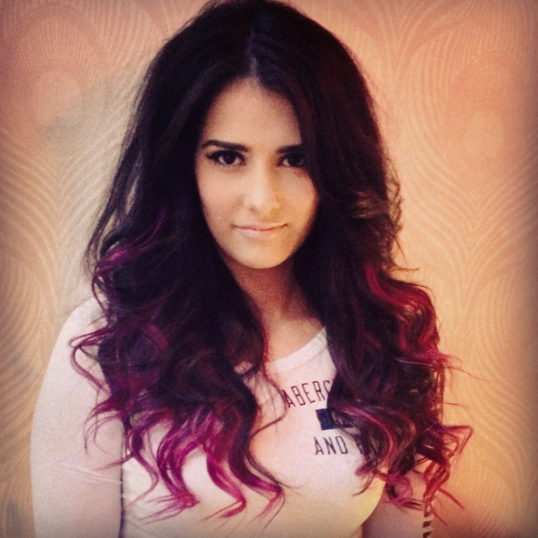 Funky color. Dark brown to purple/pink ombré. Color with hair ...