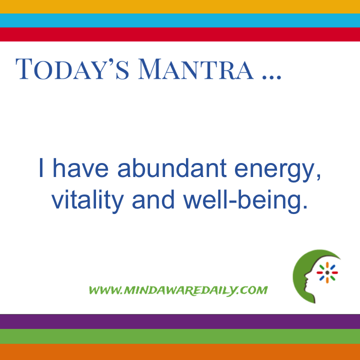 Today's #Mantra. . . I have abundant energy, vitality and well-being. #affirmation #trainyourbrain #ltg Get your daily mantra here: