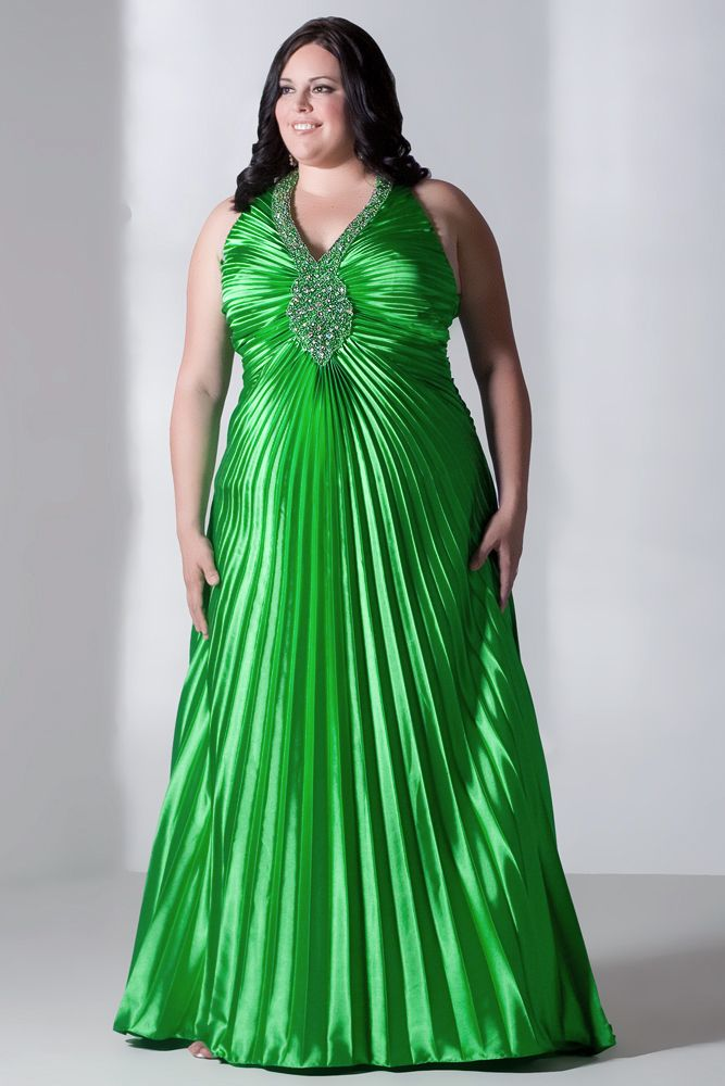 Plus size beach wedding dresses great green design for Plus size wedding party dresses