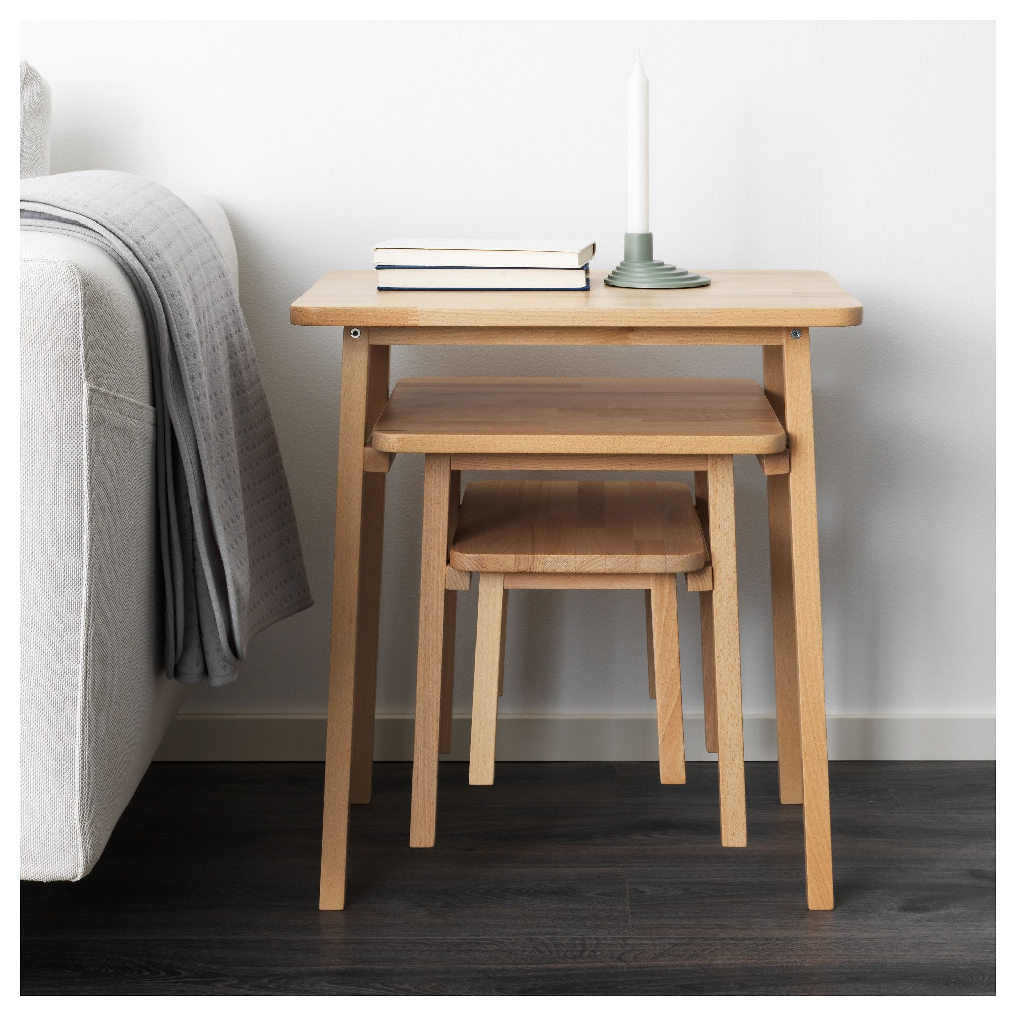 Ikea ypperlig nesting tables set of 3 beech for the home ikea ypperlig nesting tables set of 3 beech watchthetrailerfo