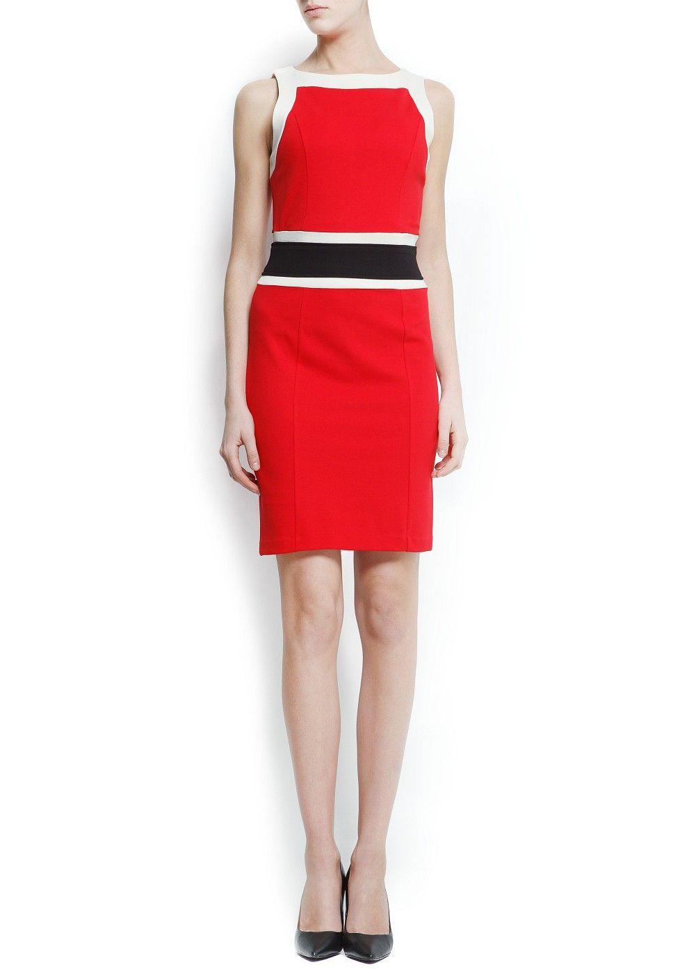 MANGO - PRENDAS - Vestidos - Vestido bloques color 5f0d203e7175