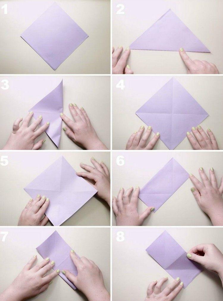 Origami Blume Falten   7 Ideen Mit Faltanleitung Für Beliebte Blumen