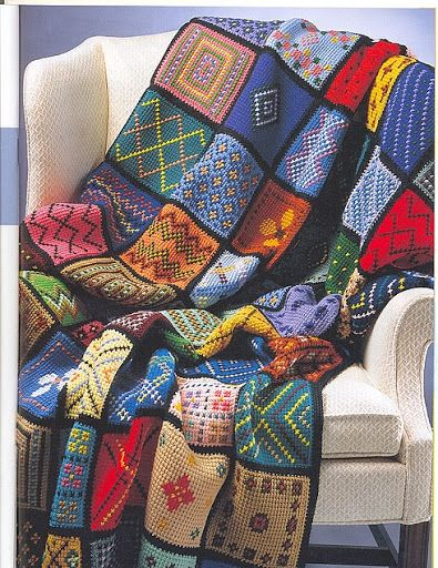 Crochè Tejido Afgano - christine - Álbuns da web do Picasa | crochet ...