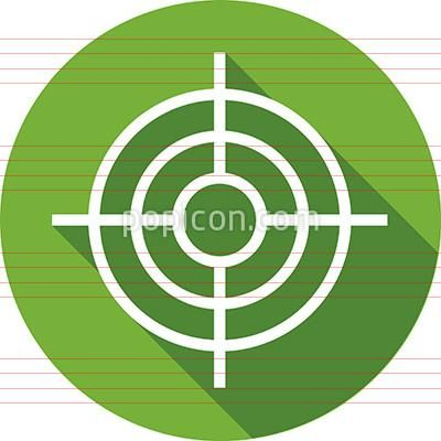 Bullseye Icon On Background Flat Color Series Icon Color Pictograph