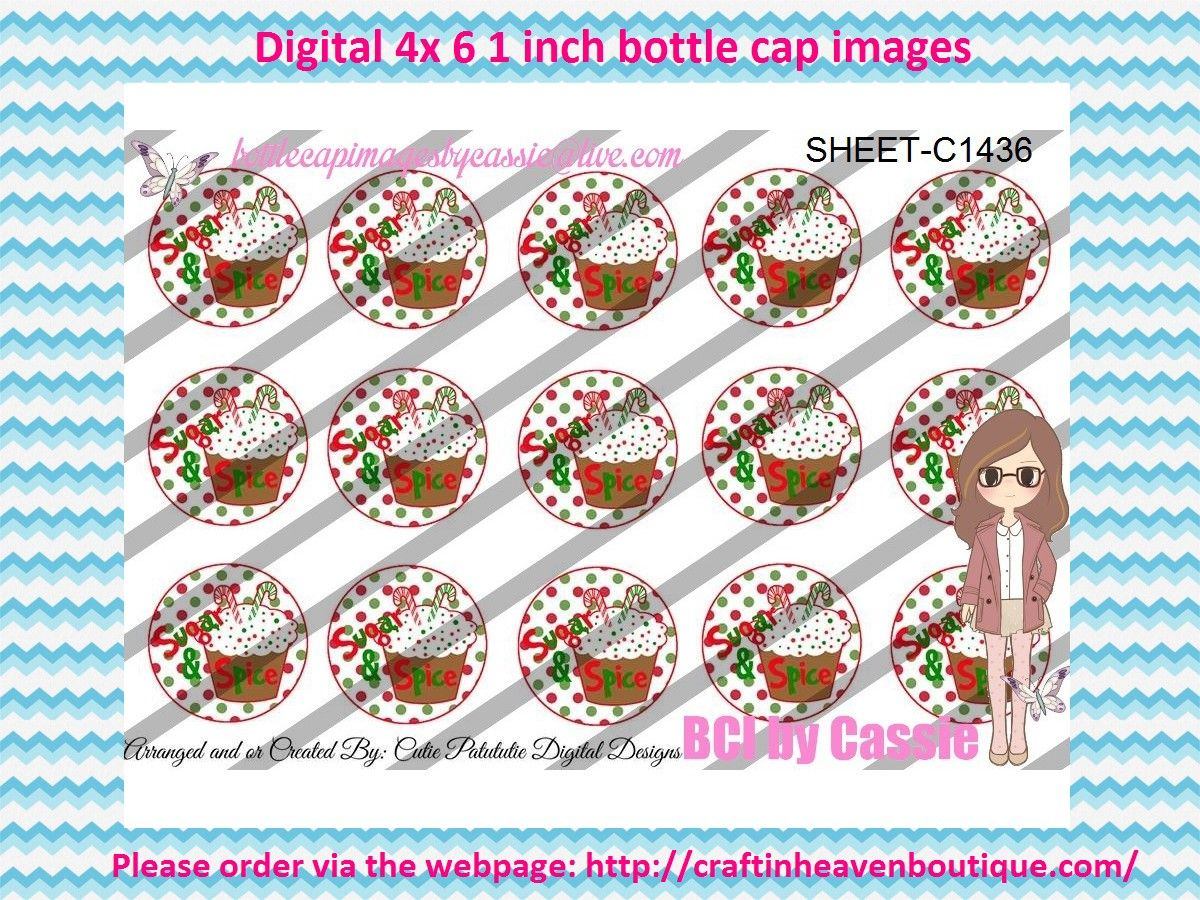 """1"""" Bottle caps (4x6) Digital Christmas C1436 Christmas bottle cap images #Christmas #xmas #bottlecap #BCI #shrinkydinkimages #bowcenters #hairbows #bowmaking #ironon #printables #printyourself #digitaltransfer #doityourself #transfer #ribbongraphics #ribbon #shirtprint #tshirt #digitalart #diy #digital #graphicdesign please purchase via link  http://craftinheavenboutique.com/index.php?main_page=index&cPath=323_533_42_56"""