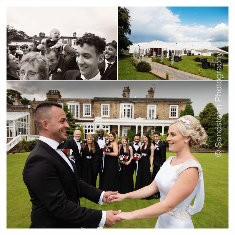 modern wedding photography west midlands%0A Ringwood Hall Wedding Photography Marquee and garden wedding