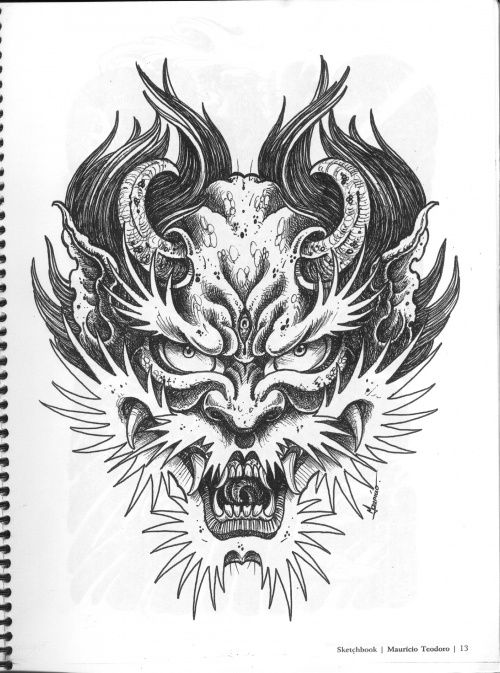 Image Result For Evil Demon Coloring Pages Evil Demons Paradise Tattoo Ink Tattoo