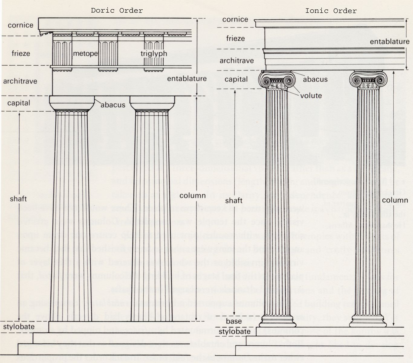 The Parthenon Is A Doric Temple Ancient Greece Also Had