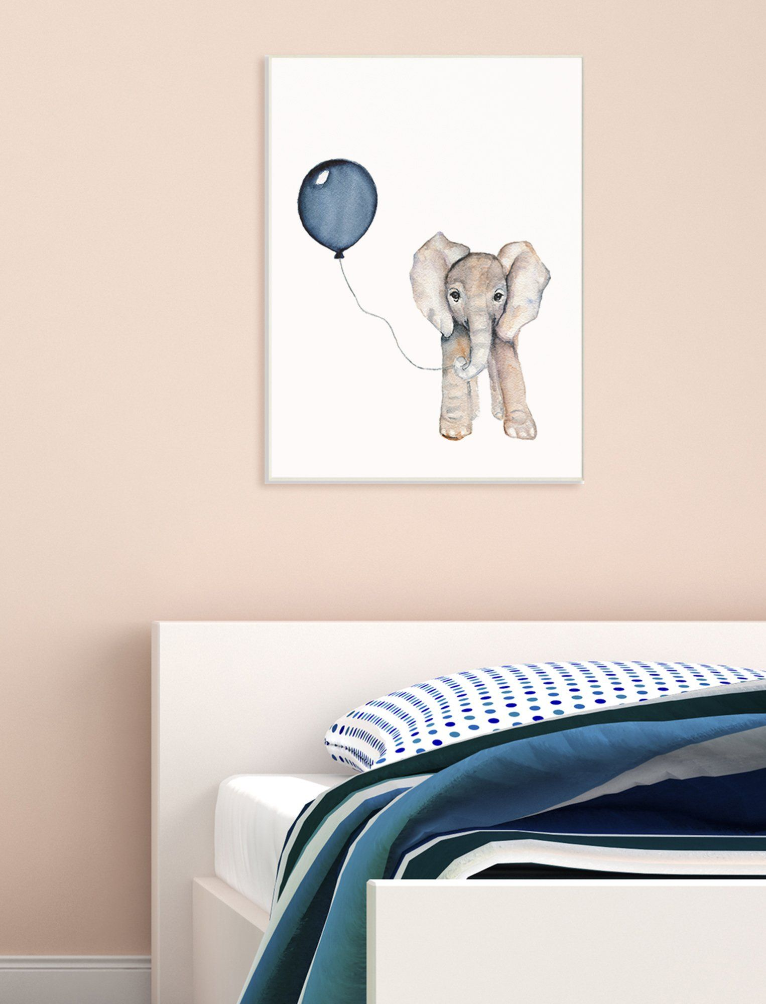 The Kids Room By Stupell Baby Elephant With Blue Balloon Wall Plaque Art 10 X 15 Click Image To Review More Detai Kid Room Decor Wall Art Plaques Kids Room
