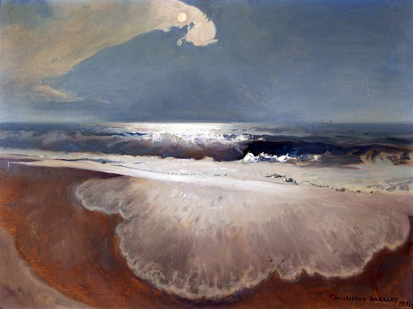 Intercepted by Gravitation | Beach in Moonlight McClelland Barclay 1936...