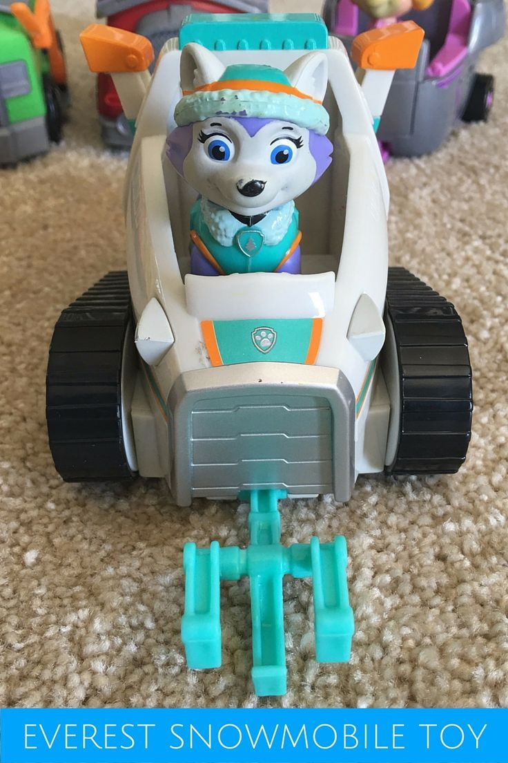 """Paw Patrol Everest Snowmobile Toy - """"Ice or snow, I'm ..."""